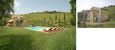 Landhaus Ripatransone, Anbau Italien, Landhaus mit Pool